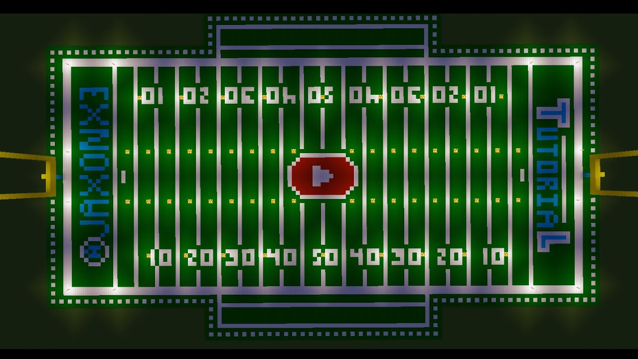 How To Make The Best Football Field In Minecraft