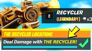 The Recycler LOCATIONS & Deal Damage to opponents with The Recycler - Fortnite