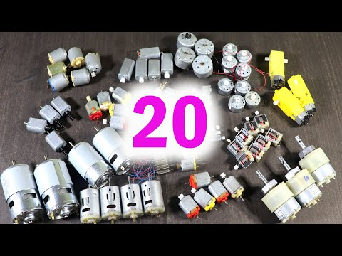 20 Different Types Of DC Motors In My School Science Project Kit