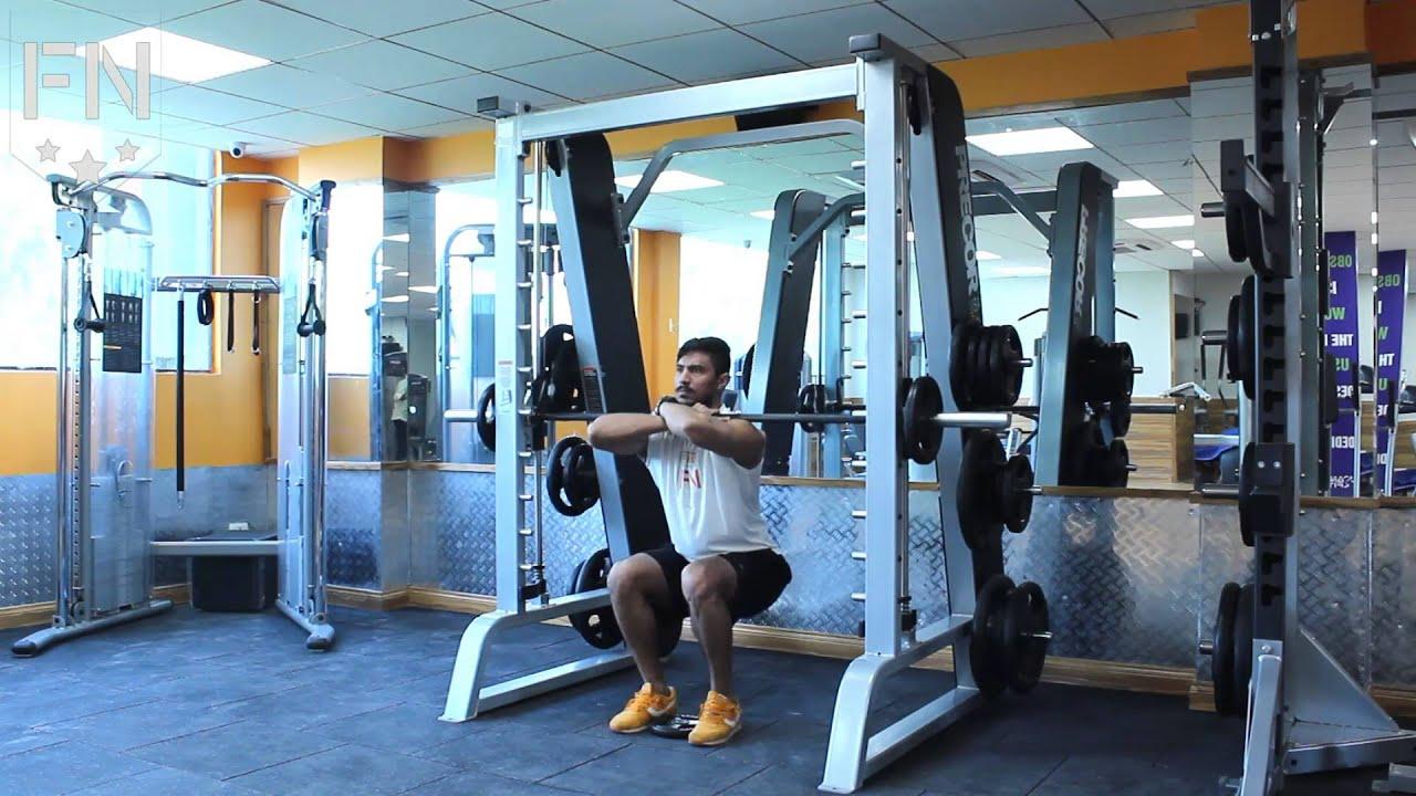 smith machine front squats