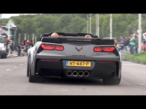 Supercars Leaving Car Meet LOUD! Z06, McLaren 720S, F12 TDF, BMW M5, Huracan