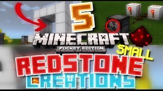 ✔️Minecraft PE - 5 SMALL REDSTONE CREATIONS // small and easy redstone builds [MCPE 0.14.2]