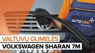Kaip pakeisti Priekinių valytyvų gumelės VW SHARAN 7M [PAMOKA]