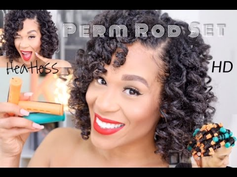 Heatless Perm Rod Set on Natural Hair using Flaxseed Gel | Tia Kirby