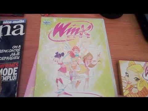 Ma collection des DVD et des livres des winx