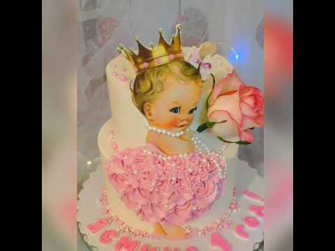 #МОЙСЛАДКИЙМИР#ТОРТСДЕВОЧКОЙКАРТИНКА. Торт на годик девочке.