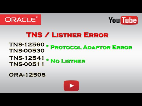 Oracle: TNS Error | Protocol Adaptor Error | No Listner
