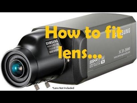how to fix lens to CCTV box camera