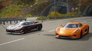 Forza Horizon 4 Drag race: Koenigsegg Regera vs Koenigsegg Agera RS