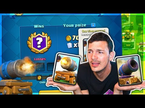 12 WINS FIRST TRY?! New CANNON CART Challenge Clash Royale!