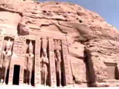 El Templo de Ramsés II y su reina, en Abu Simbel, Egipto