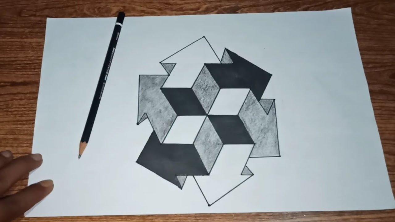 Belajar Cara Menggambar Ilusi Optik 3d By Cicopilo