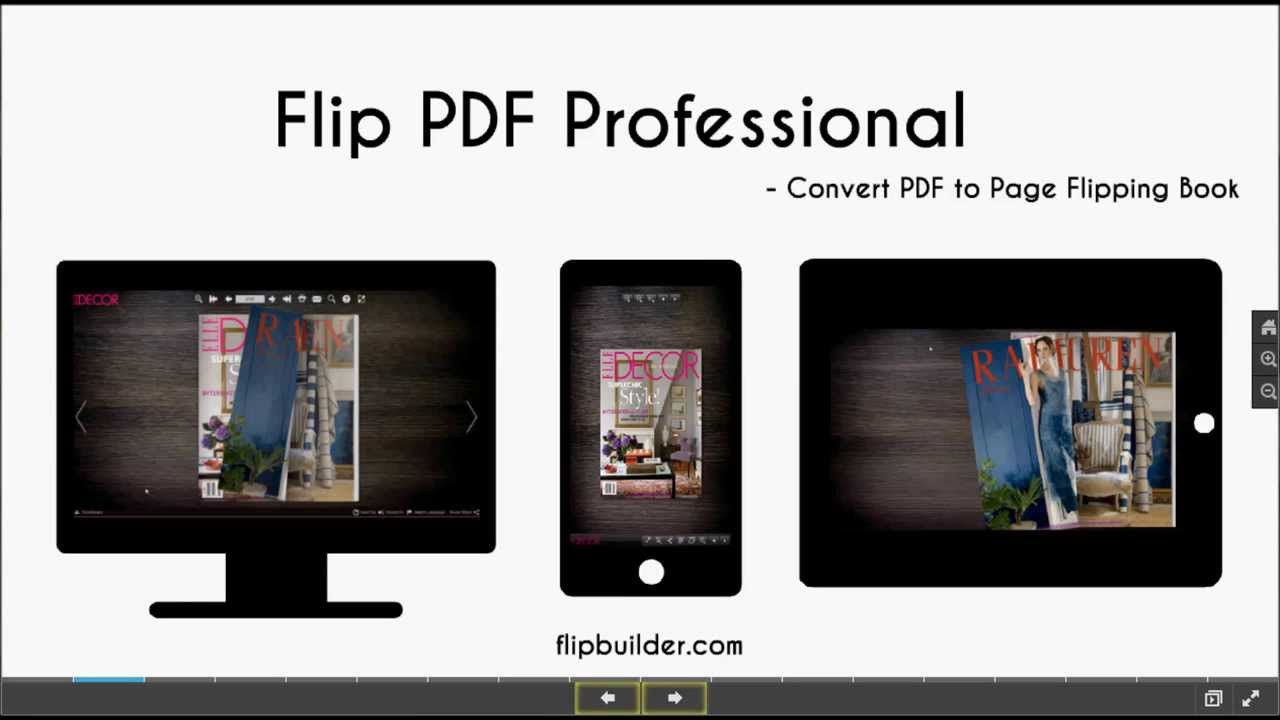 introduction of flip pdf professional flipbuilder com youtube