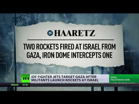 IDF fighter jets target Gaza after militants launch rockets at Israel