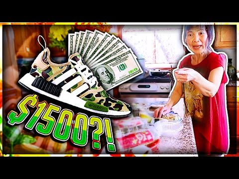 Mom Freaks Out at me for Buying $1500 Shoes! (Live Footage)
