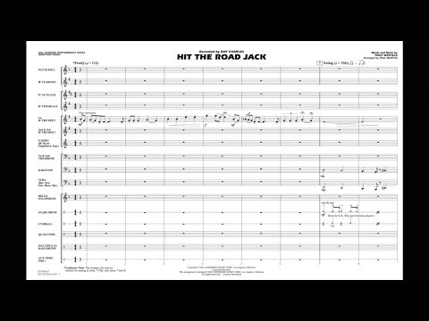 Hit the Road Jack by Percy Mayfield/arr. Paul Murtha
