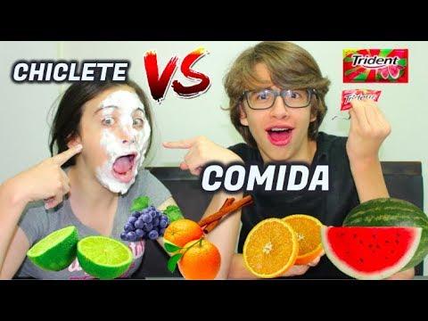 DESAFIO CHICLETE VS COMIDA DE VERDADE – CAROL SANTINA