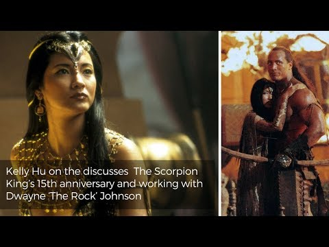 Kelly Hu on the Scorpion King  and working with the Rock