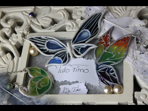 [♥✿ Tuto Fimo + Résine : Papillon ✿♥] ~ [♥✿ Polymer Clay Tutorial + Resin : Butterfly ✿♥]