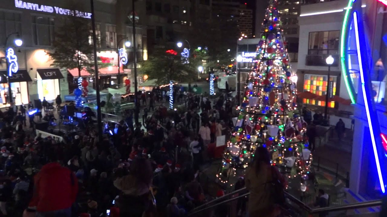 2015 christmas tree lighting ceremony downtown silver spring maryland
