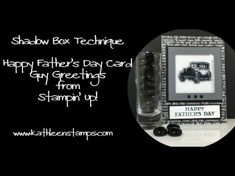 Father's Day card   Shadow Box Technique