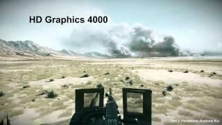 Battlefield 3 (720P): HD Graphics 3000 (Sandy Bridge) VS. 4000 (Ivy Bridge)