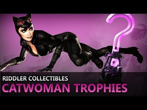 Batman: Return to Arkham – Arkham City – Riddler Collectibles – Catwoman Trophies