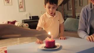 Poyraza #KIŞKIRTMA yaptık. Buse Ablanın doğum gününü kutladık Poyraz çıldırdı. #çocukvideoları