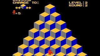 Q-bert - Q-bert (NES / Nintendo) -high score: 66020 - User video