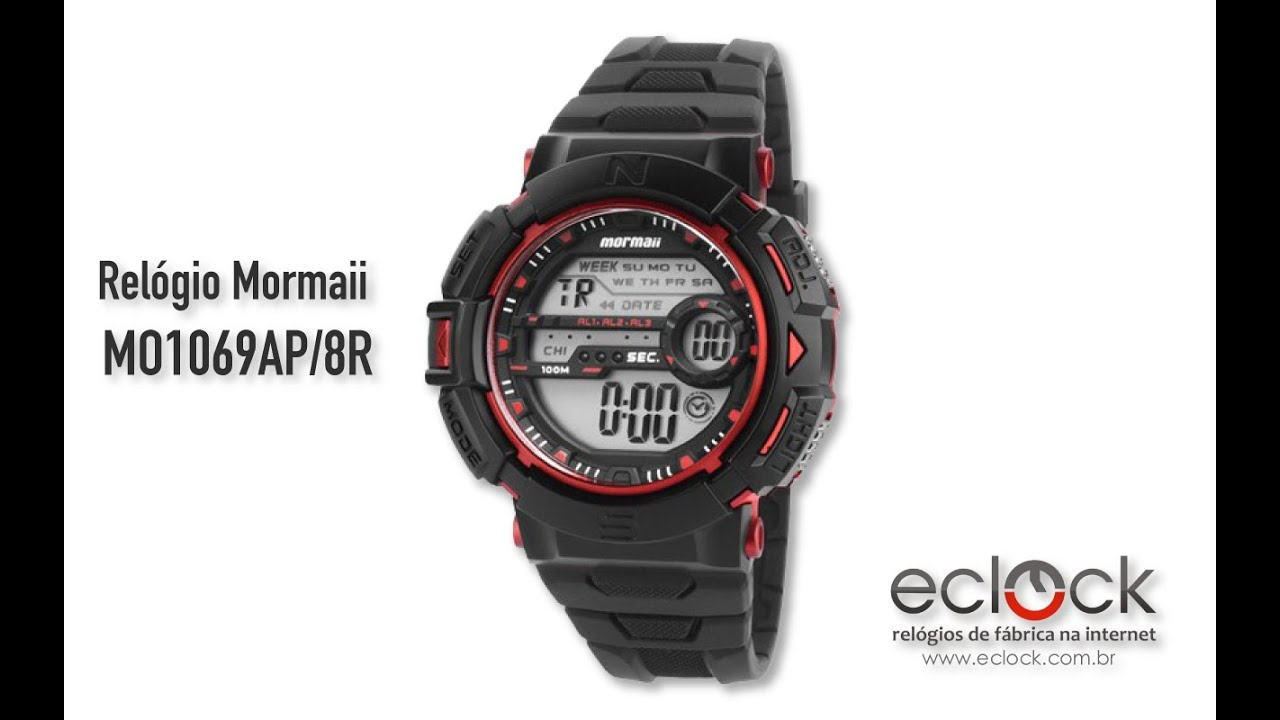 4850b74642712 Relógio Mormaii Masculino MO1069AP 8R - Eclock - YouTube