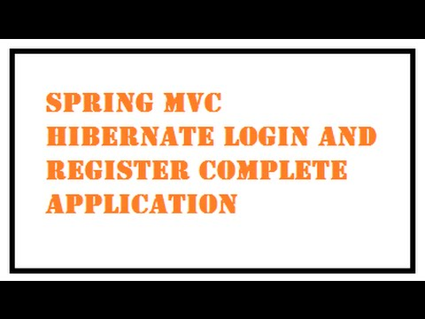 Spring MVC Hibernate Login Registration Complete Application