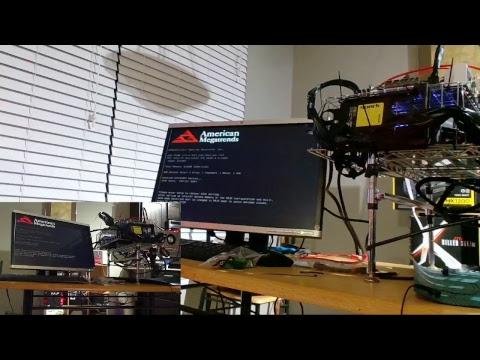 LIVE RX VEGA MINING RIG BUILD Pt. 2 - 4 GPU - Wire Shelf Frame Improvements.