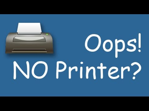 What to do when you see 'No printers installed'
