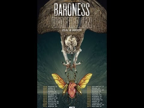 Baroness and Deafheaven tour 2019 support from Zeal & Ardor ..!