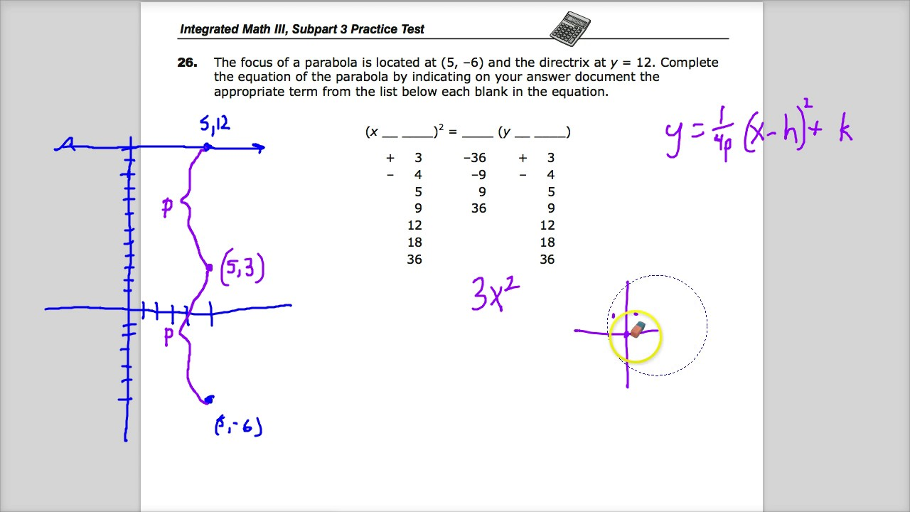 Question 26 - Integrated Math 3 - TNReady Practice Test - YouTube