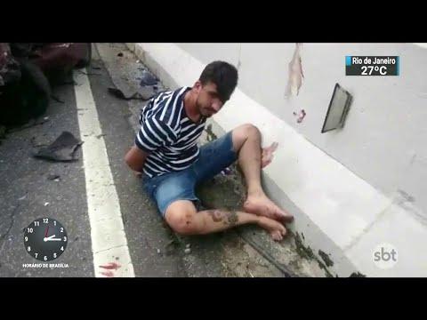 Criminoso em fuga bate carro e mata duas pessoas na Grande SP | SBT Notícias (16/03/18)