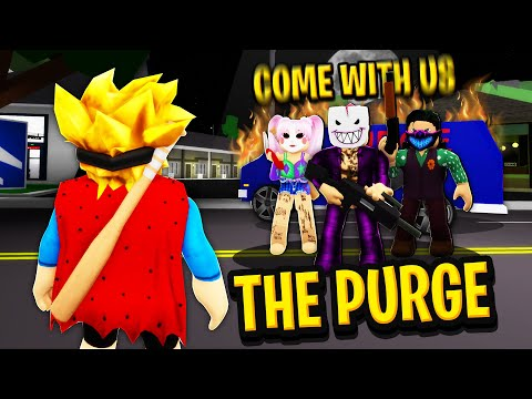 THE PURGE in Roblox BROOKHAVEN RP!!