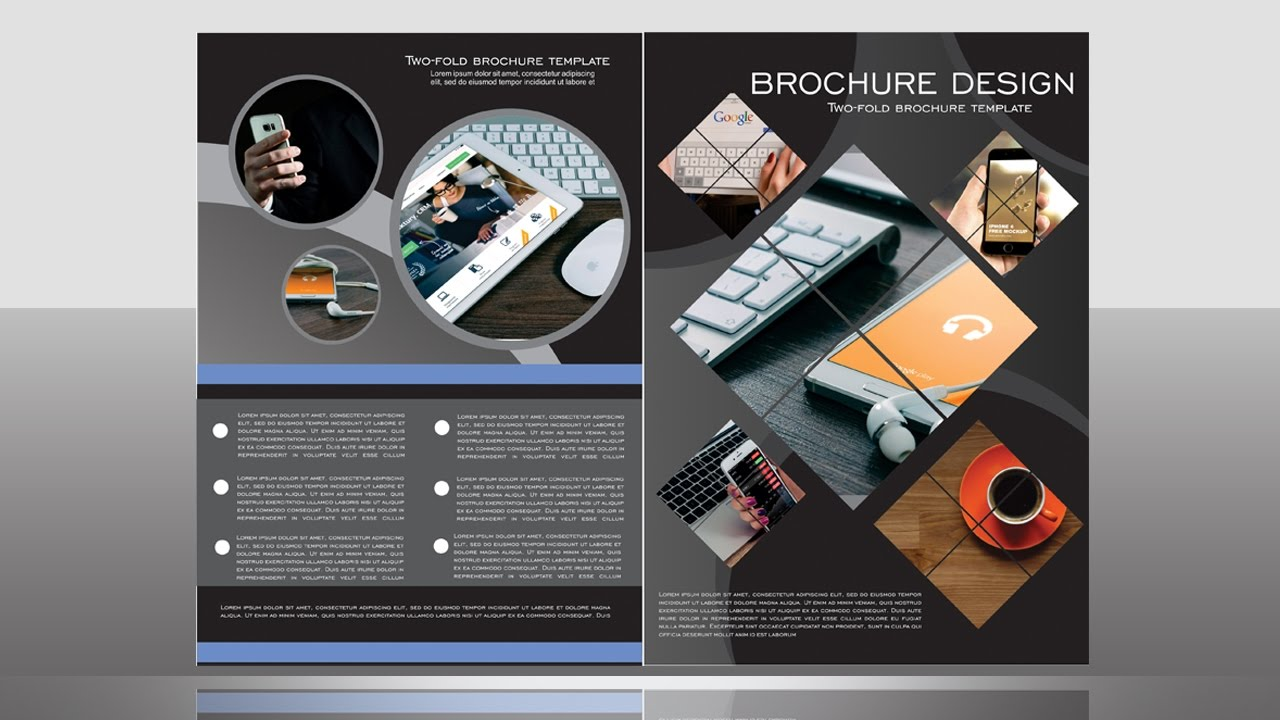 bi fold brochure design coreldraw tutorial youtube