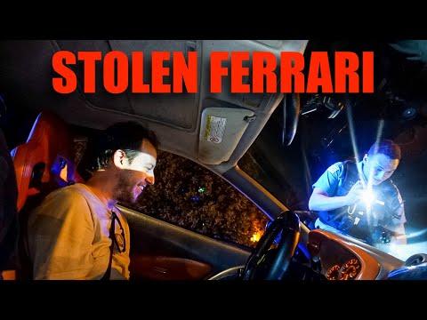 CONFUSED COPS PULL OVER FAKE FERRARI
