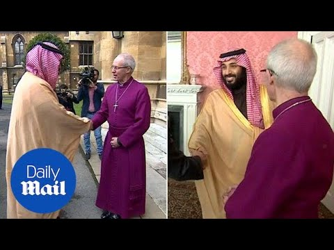 Saudi Crown Prince meets Archbishop of Canterbury during UK visit - Daily Mail