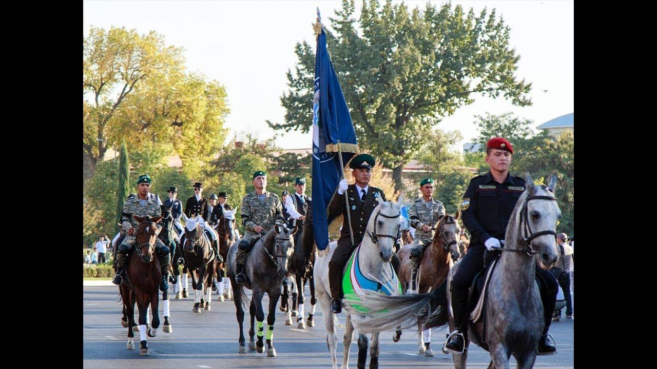 Конный парад прошел в Ташкенте - YouTube