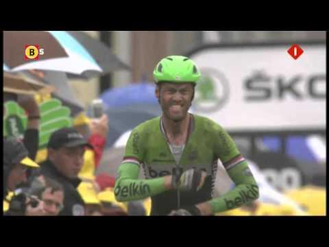 Lars Boom is de eerste Nederlander die sinds 2005 een etappe in de Tour wint