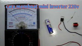 Video Cara membuat Mini inverter 1,5 volt to 220 volt dari trafo charger bekas - bagian 1 download MP3, 3GP, MP4, WEBM, AVI, FLV Mei 2018