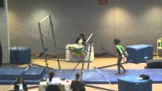 Maulana Young  level 7 Gymnastics- Uneven bars 2012 Madi Gras Invitational