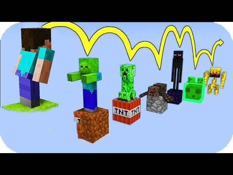 NOOB VS PARKOUR DE MOBS MINECRAFT TROLL thumbnail