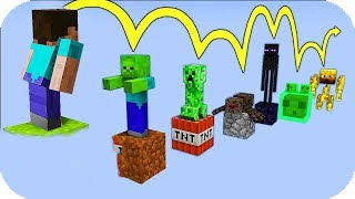 NOOB VS PARKOUR DE MOBS MINECRAFT TROLL