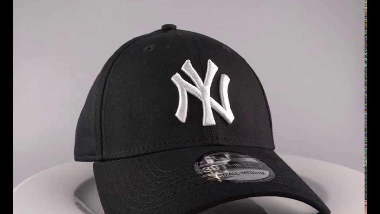 63b4c4230ef5d reduced new era 39thirty curved cap ny new york yankees black white 2995  gratis verzending a45ef
