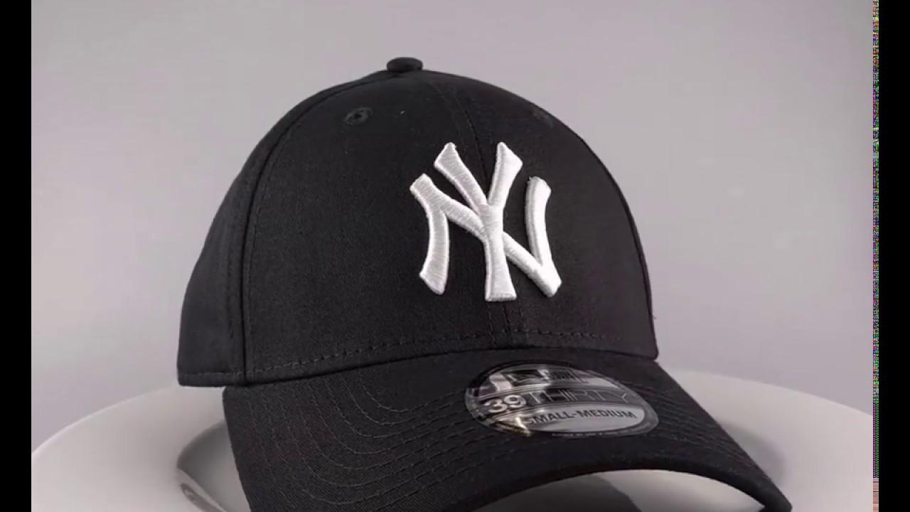 61de7434448 New Era 39Thirty Curved cap NY New York Yankees - black white - €29 ...