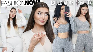 TRYING ON LOUNGEWEAR & LINGERIE FROM FASHION NOVA... AD