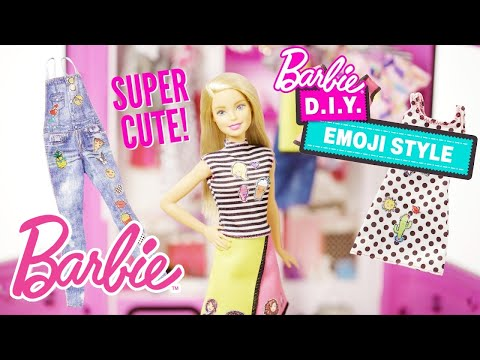 Barbie® Doll Shows How to Design with the DIY Emoji Style™ Kits | Barbie